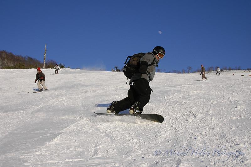 Me snowboarding in Nagano
