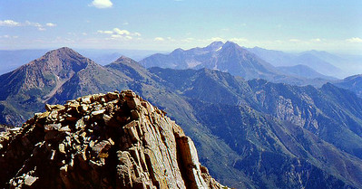 Standing on Lone Peak