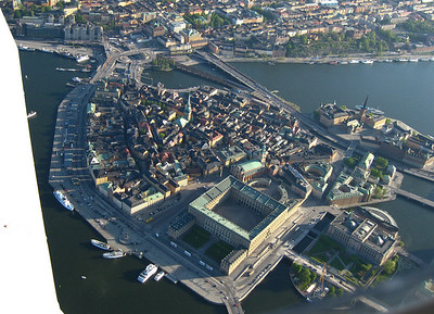 Stockholm by air