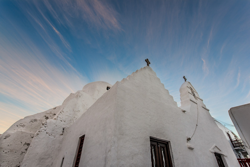 Mykonos Dawn Cloud Church