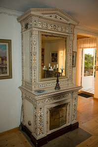 Tile stove in our old house - today we have an exact copy in our appartment