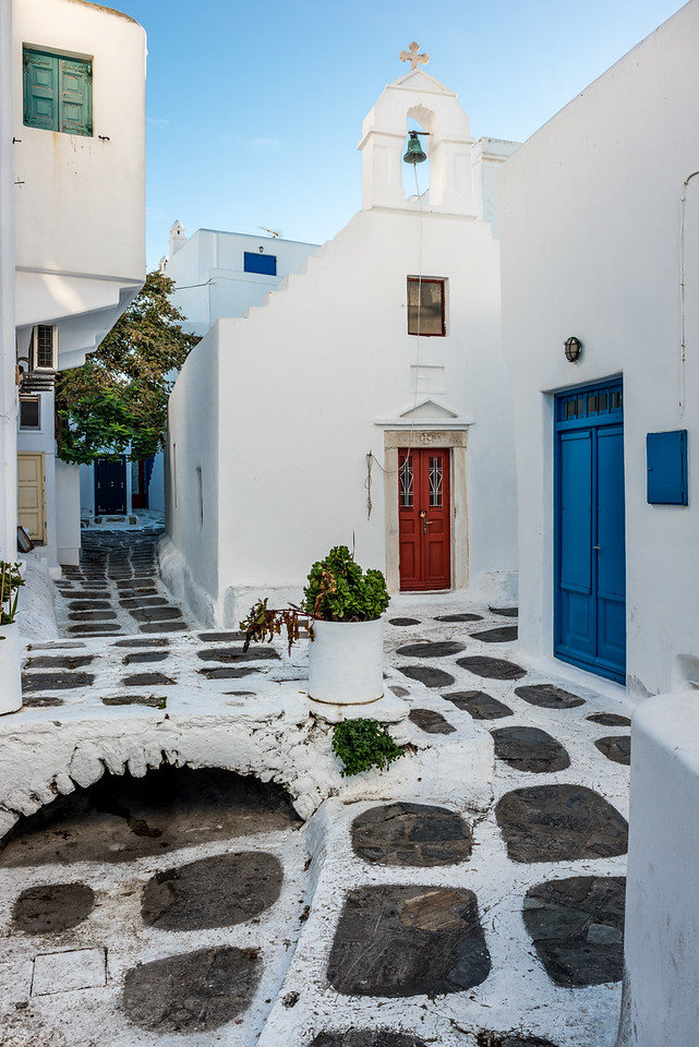 Mykonos Church Courtyard