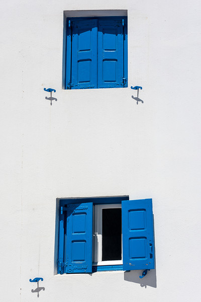 Mykonos Blue Windows