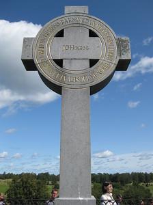 Ansgar cross in the historic viking city of Birka