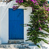 Mykonos Floral Blue Door