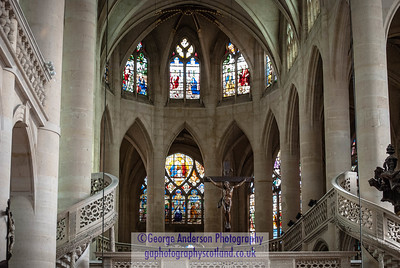 Church interior Paris France
