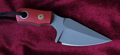 Relentless Knives M2 Scorpion w/Red G10 Handles