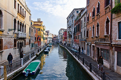 Side canal in Venice, Italy 2010