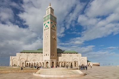 The Hassan II Mosque (second largest in the world) in Casablanca, Morocco 2011.