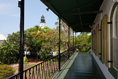 Lighthouse view from the Hemingway House, Key West, FL 2009
