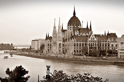 Parliament building on the Danube river in Budapest, Hungary 2010