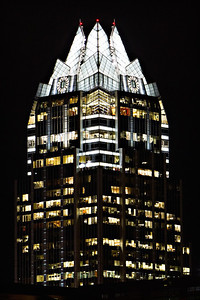 Frost Bank Building in downtown Austin, Texas.