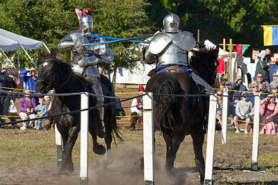 Jousters at the Lady of the Lake Ren Fest in Central Florida.