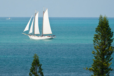 Sailboat off Key West, FL 2009.