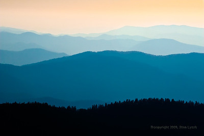 Sunrise view from Clingman's Dome in the Great Smoky Mountains National Park- Gatlinburg, Tennessee.