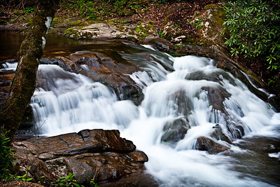 Silky stream in the Great Smoky Mountains National Park- Gatlinburg, Tennessee.