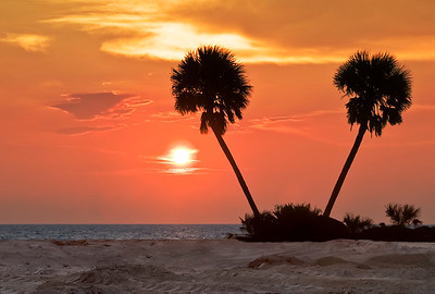 Sunrise on Daytona Beach, Florida.