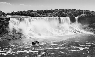 Niagara Falls from the Canadian side, Summer of 2012, Black and White.