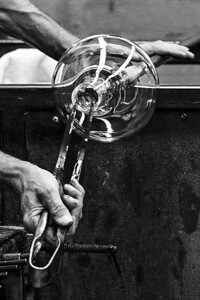 Glass blowing in Corning, NY, 2012