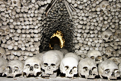 Church decorations from the Ossuary in Kutná Hora, Prague.