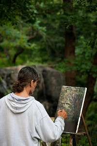 Painter in Central Park, NY.