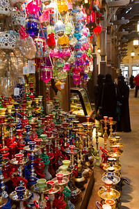 Hookahs for sale in a market in Dubai, United Arab Emirates, 2012.