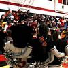 RACHEL LEATHE/ THE COURIER<br /> <br /> 021916 Pekin v. Highland High School Girls varsity bball, Class 2A Regional Semifinals at Pekin High School Gymnasium, Friday evening
