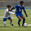 Action from Tuesday's boys' soccer game between Lewiston and Messalonskee at Lewiston High School on Oct. 26, 2021. Photo by Russ Dillingham/Sun Journal