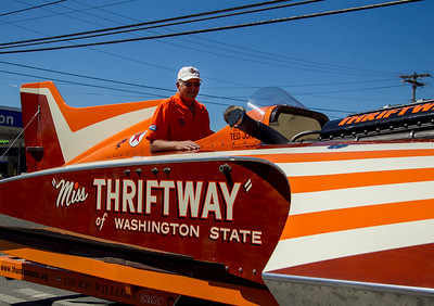 The Miss Thriftway U-60 Hydroplane in Vashon Island Strawberry Festival Grand Parades, 2013-2016