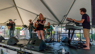 The Allison Shirk Band at the Beer Garden Festival Saturday