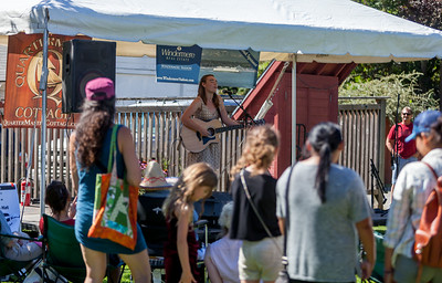 Kate Atwell at the Village Green Stage  Festival Saturday