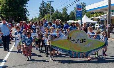 The Vashon Island Strawberry Festival Kids Parade 2017