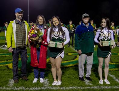 Vashon Island High School Football-Fall Cheer Seniors 2016