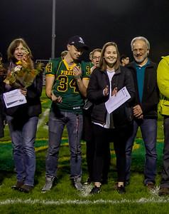 Vashon Island High School  Football-Fall Cheer Seniors Night 2016