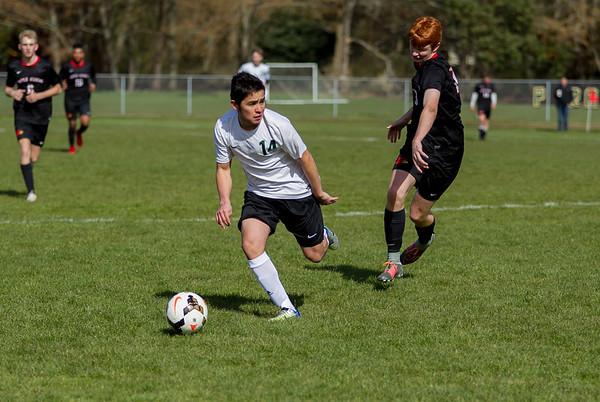Set two: Vashon Island High School Boys Varsity Soccer v Seattle Academy