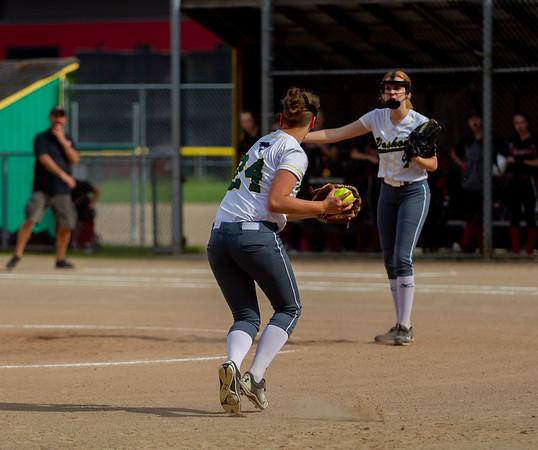 Set four the Seniors Night game: Vashon Island High School Fastpitch v Seattle Christian