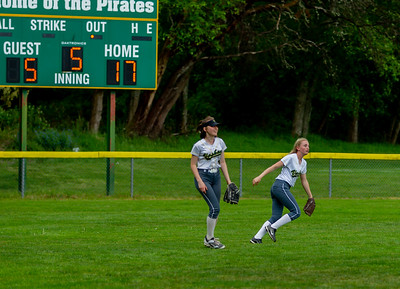 The Seniors Night game, Vashon Island High School Fastpitch v Seattle Christian