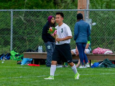 Vashon Island High School Boys Soccer Seniors Night 2018
