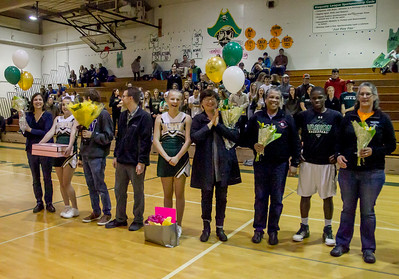 Winter Cheer and Boys Basketball Seniors Night 2017