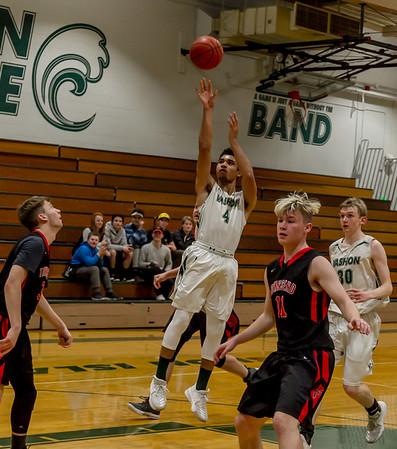 First Quarter Set two: Vashon Island High School Boys Varsity Basketball v Port Townsend