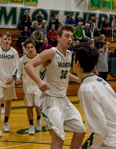 Pregame and Introductions: Vashon Island High School Boys Varsity Basketball v Port Townsend