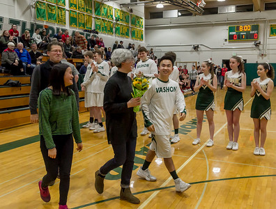Vashon Island High School Boys Basketball Seniors Night 2018
