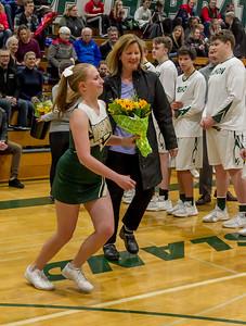Vashon Island High School Winter Cheer Seniors Night 2018