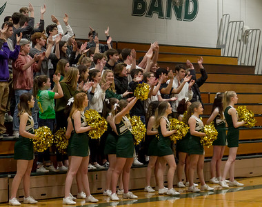 Winter Cheer and Crowd at Basketball v Bellevue Christian