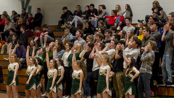 Winter Cheer and Crowd at Basketball v Bellevue Christian 2018