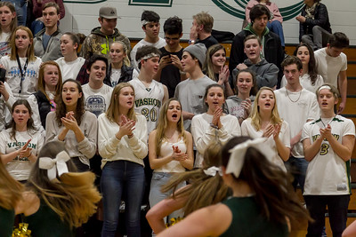 Winter Cheer and Crowd at Basketball v Coupeville 2018