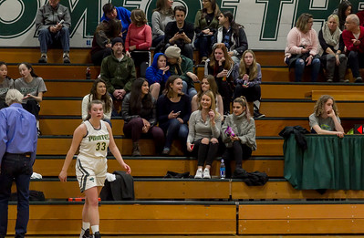 Winter Cheer and Crowd at Girls Varsity Basketball v Aberdeen