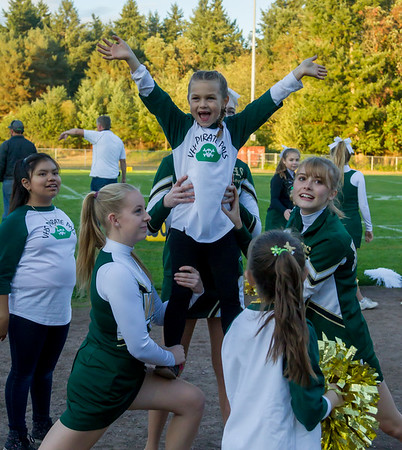STUNTING Set four: Cheer and Pirate Pals 2017 at Football v Coupeville 09/29/2017