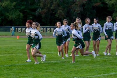 Vashon Island High School Fall Cheer and Crowd at Football v Concrete 09/15/2017
