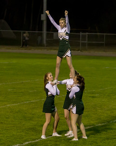 Vashon Island High School Fall Cheer halftime show at Football v Concrete